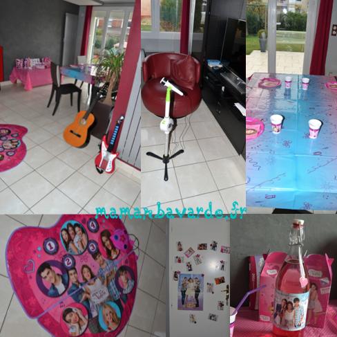 anniversaire thème violetta décorations