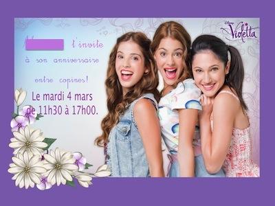 Modele invitation concert document online - Image de violetta a telecharger ...