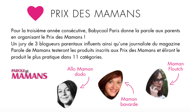 Jury du salon baby cool les 3 dr les de dames for Salon baby cool