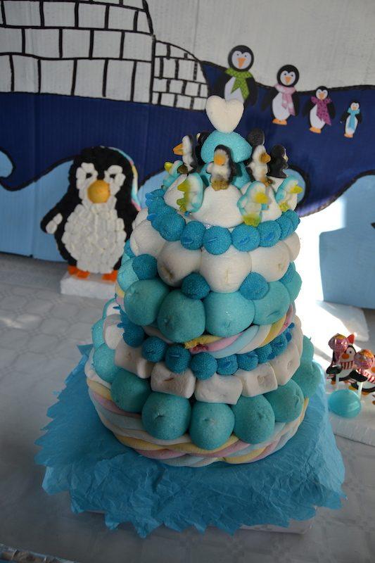 anniversaire-pingouins-gateau-bonbons