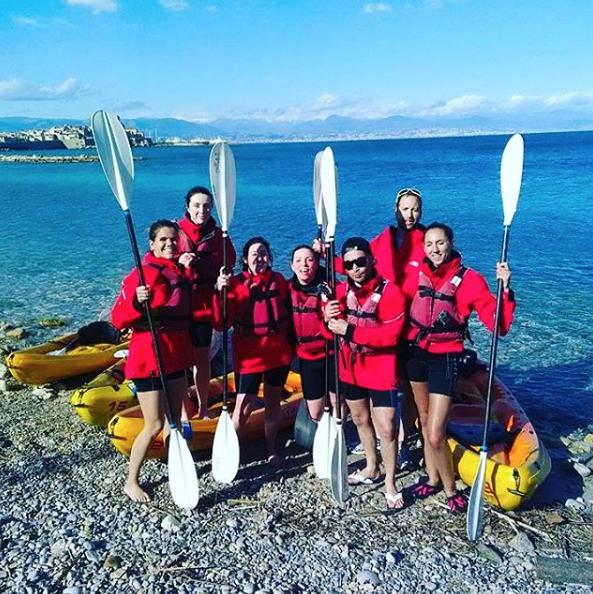 kayak en mer antibes