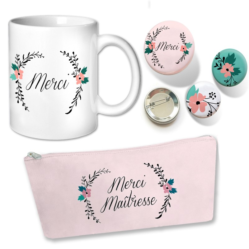 idée cadeau instit - kit mug trousse